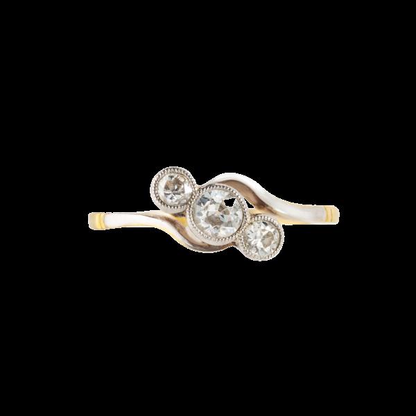 A three Stone Diamond Ring - image 1