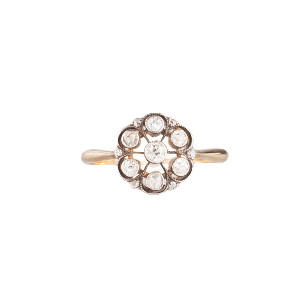 A seven stone Diamond Cluster ring - image 1