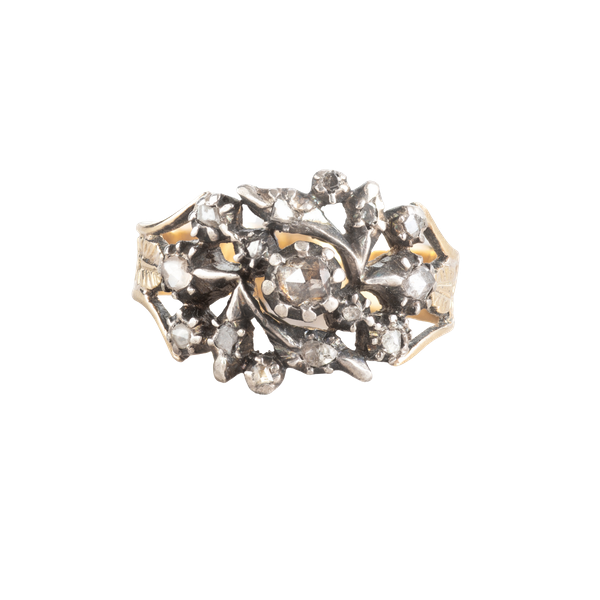 An Antique Gold Diamond ring - image 1