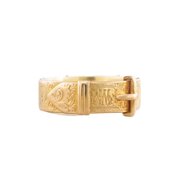 A Gold Buckle ring - image 1