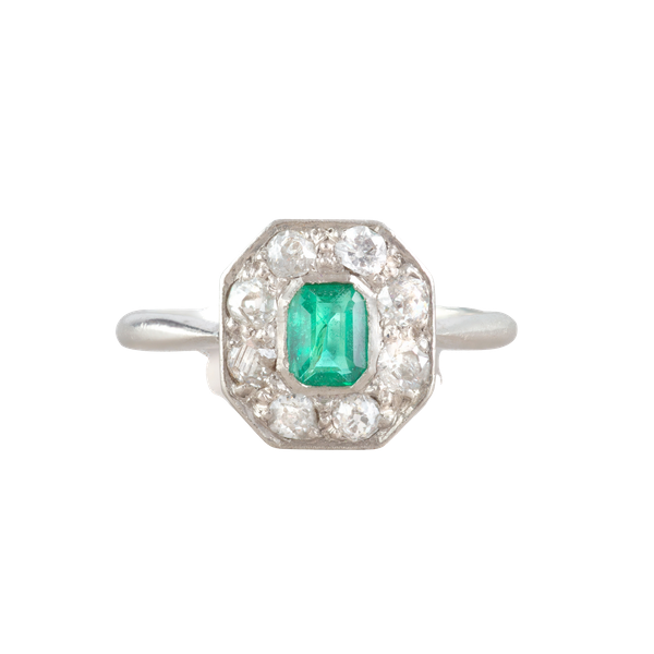 An Antique Emerald and Diamond ring - image 1