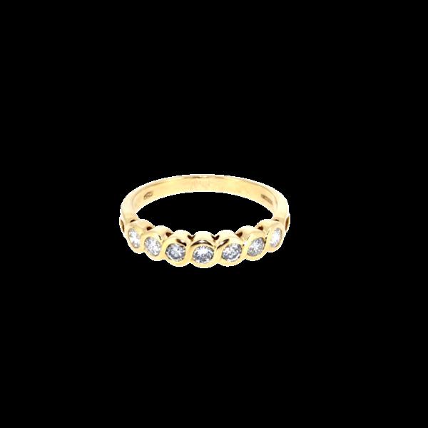 Modern Seven Stone Half Eternity Ring. S.Greenstein - image 1
