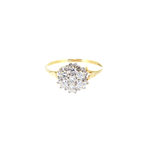 Diamond Cluster Ring. S.Greenstein - image 1