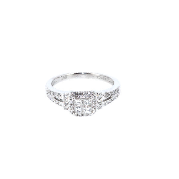 Square Shaped Cluster Ring. S. Greenstein - image 1