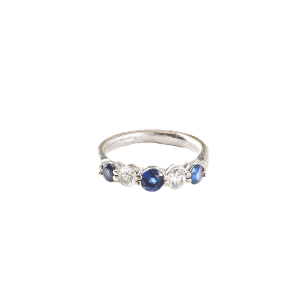 A Sapphire and Diamond ring - image 1