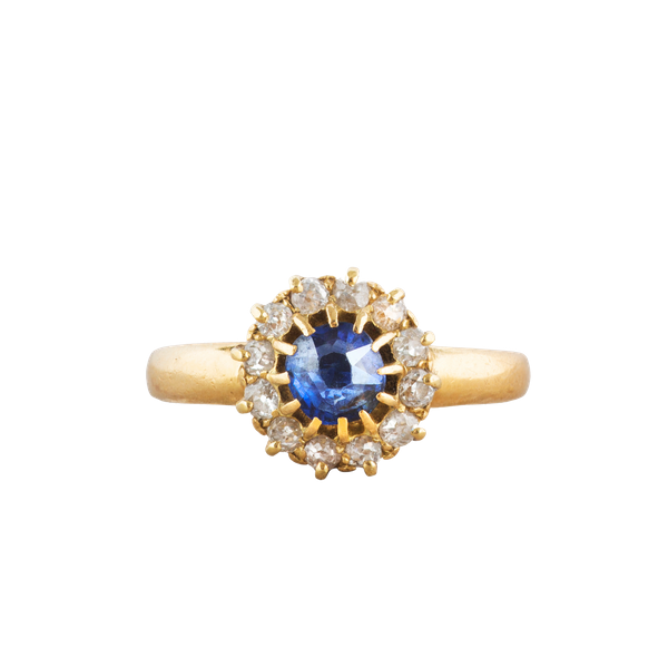 A Sapphire and Diamond Cluster ring - image 1