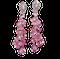 Pink sapphire and diamond drop earrings sku 4859  DBGEMS - image 1