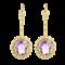 A pair of Amethyst Gold Earrings - image 1