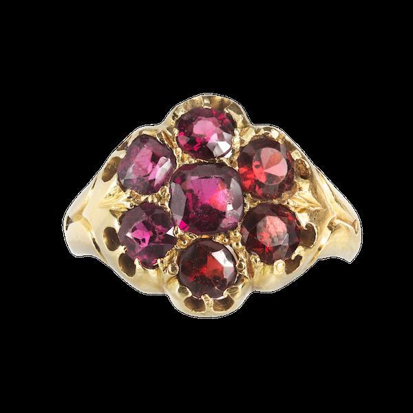 A Gold Garnet ring - image 1