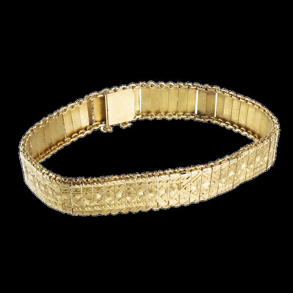 A Gold French Bracelet - image 1