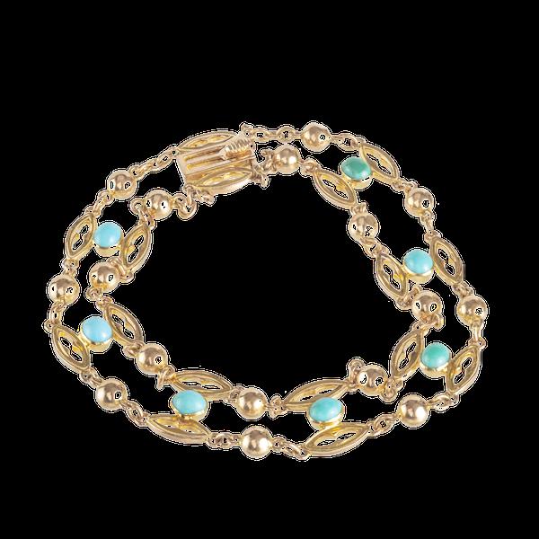 A Turquoise Gold Bracelet - image 1