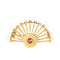 A French Pearl Ruby Gold fan Brooch - image 1