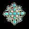 A Turquoise Diamond Brooch - image 1