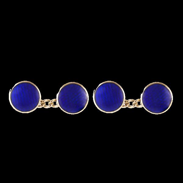 A pair of Blue Enamel Cufflinks by Georg Adam Scheid - image 1