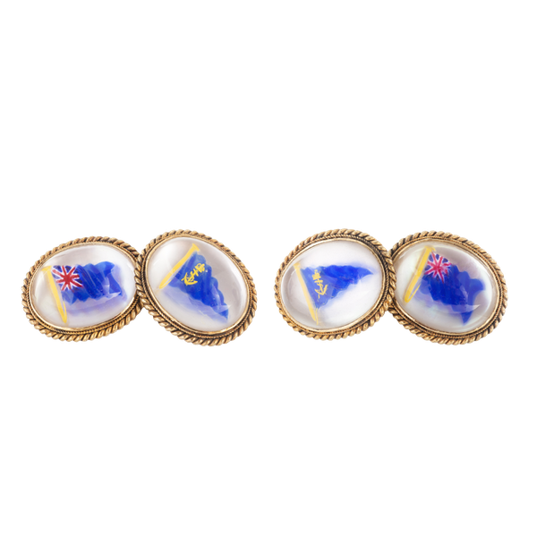 A pair of Naval Flag Cufflinks - image 1