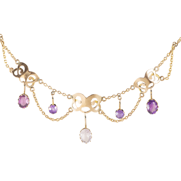 A Gold and Amethyst Necklace - image 2