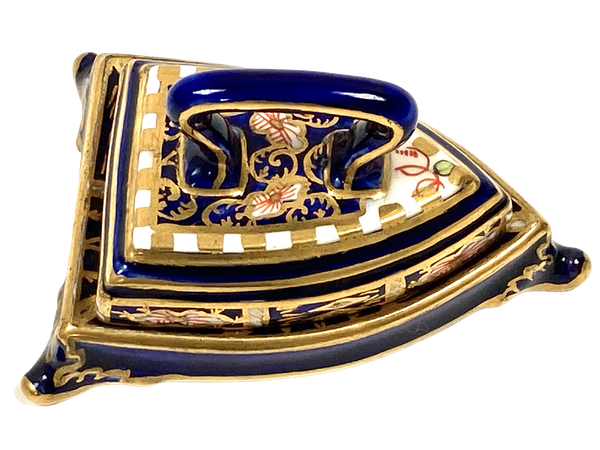 Royal Crown Derby miniature Iron on stand - image 1