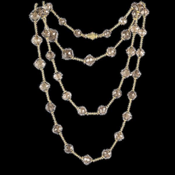 A Smoky Quartz Beaded Necklace - image 1