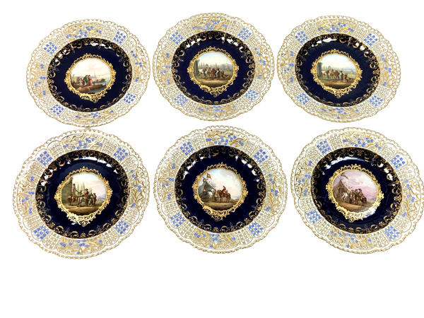 Set of fine reticulated Meissen plates - image 1