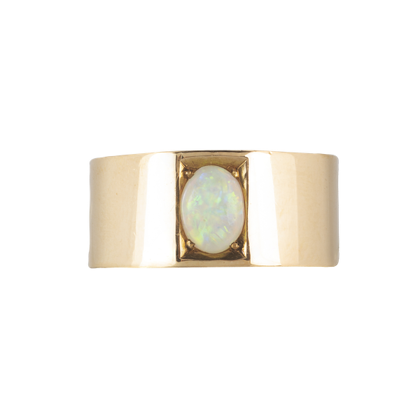 An Australian Opal Gold Ring by Louis Cadby - image 1
