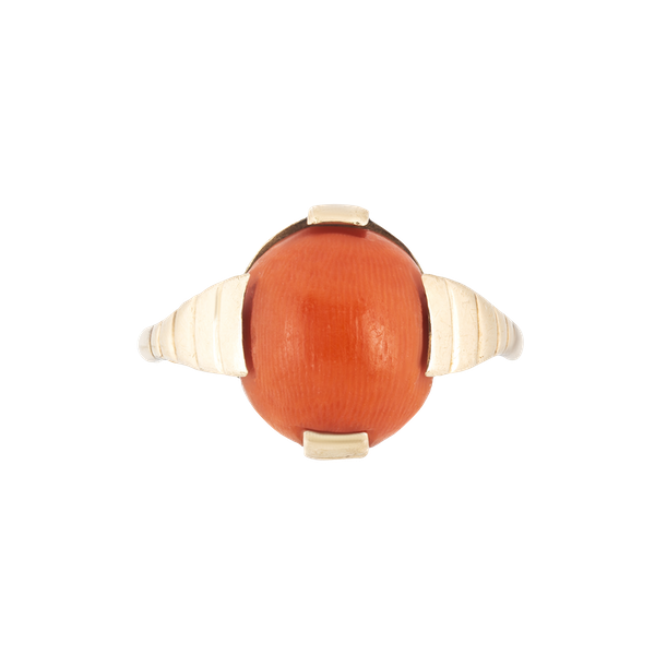 A Gold Coral Ring - image 1