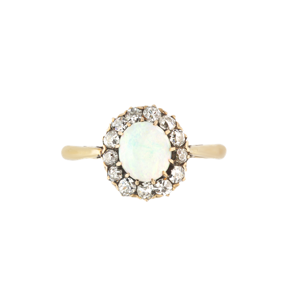 An Opal and Diamond Cluster Ring - image 1