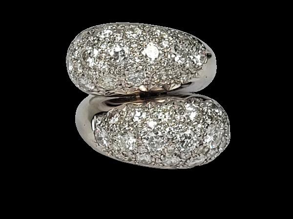 Stylish bombe diamond cross over dress ring sku 4870  DBGEMS - image 1