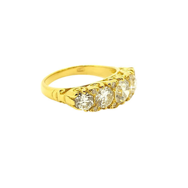 Antique Five Stone Ring - image 1