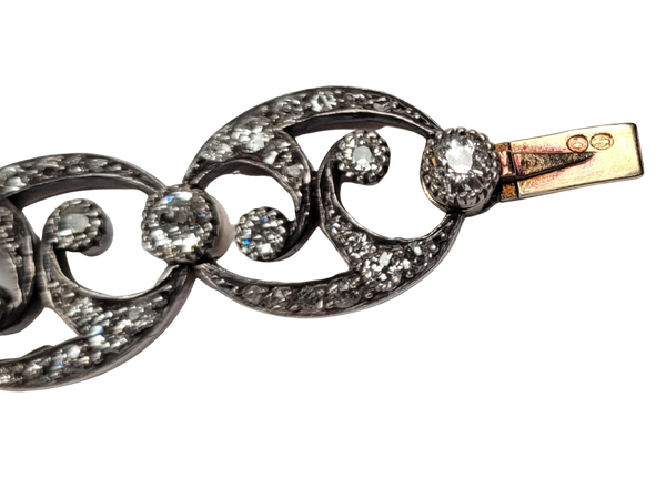 Antique diamond bracelet sku 4884 DBGEMS - image 1
