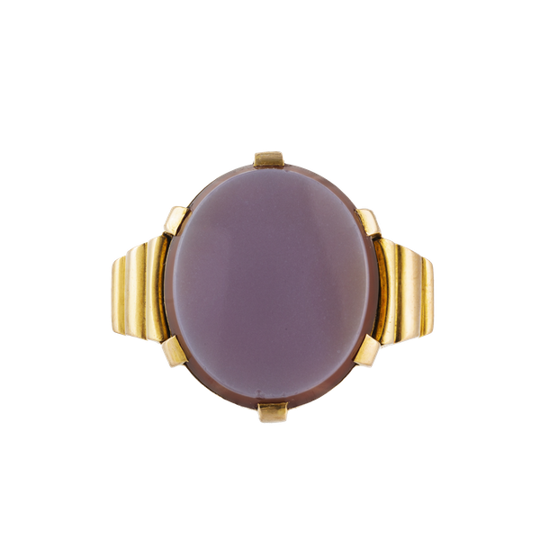 A Gold Carnelian Signet Ring by Edward Vaughton - image 1
