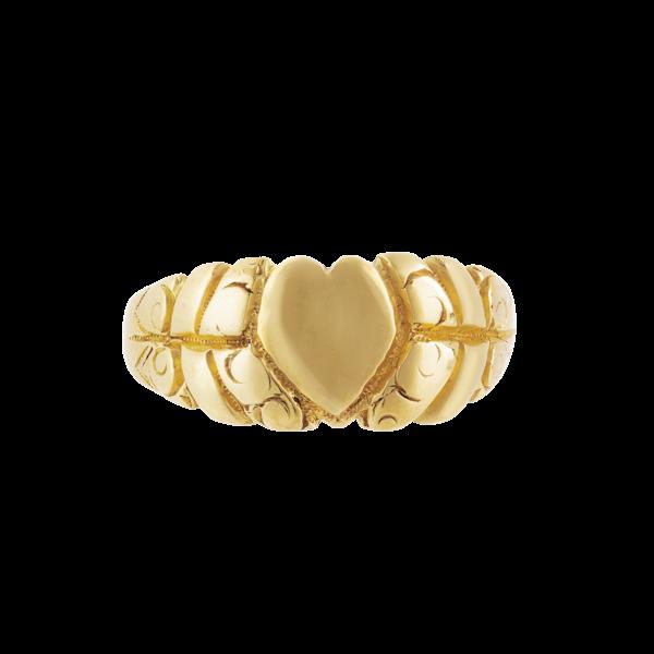 A Twenty-Two Carat Gold Heart Ring - image 1