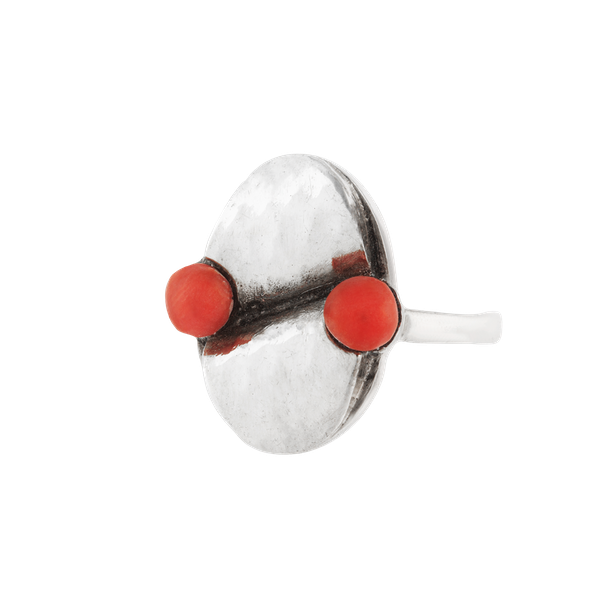 A Silver Coral Ring - image 1