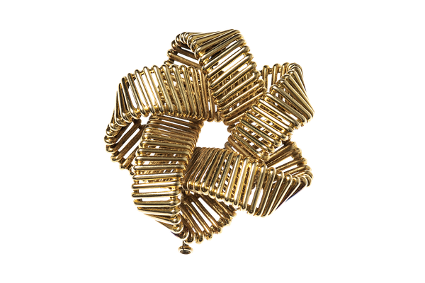 Vintage Hermes Gold Openwork Brooch circa 1950. - image 1