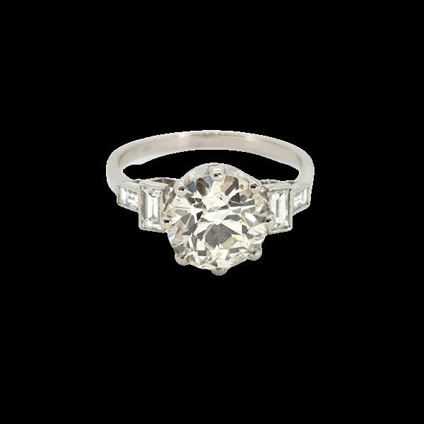 Old cut diamond rings 2.21ct - image 1