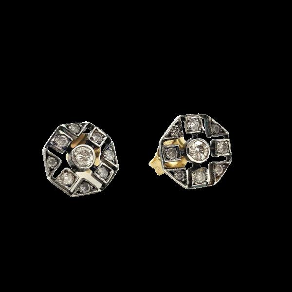 Silver-set Diamond earrings - image 1