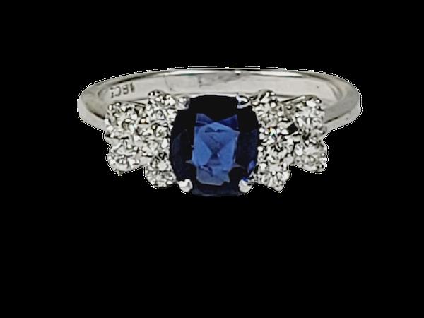 Sapphire and diamond engagement ring sku 4898  DBGEMS - image 1
