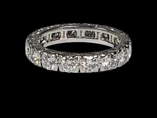 Art deco diamond eternity ring sku 4886  DBGEMS - image 1