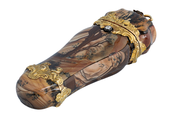 GOLD AND MOSS AGATE ETUI - image 1