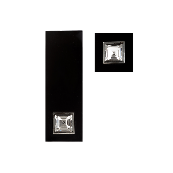 An Onyx Paste belt buckle and button - image 1