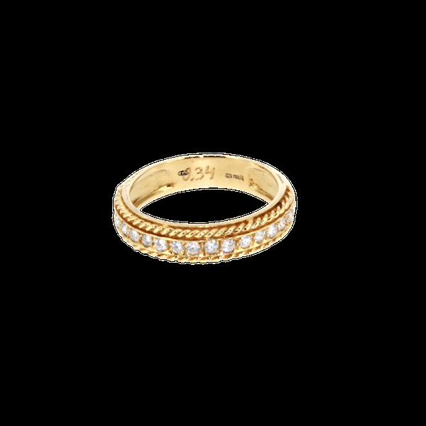 Round Brilliant Diamond Half Eternity Ring.S. Greenstein - image 1