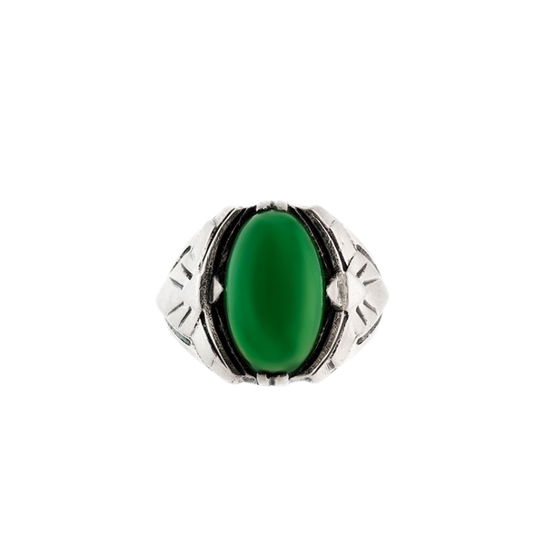 A Silver and Chrysoprase Ring by Theodor Fahrner - image 1