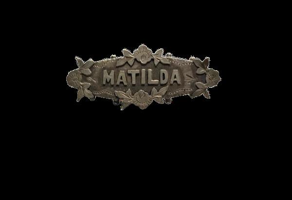 Matilda Victorian silver name brooch.Spectrum - image 1