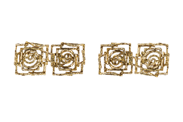 Vintage Cufflinks of Abstract Design in 18 Carat Gold - image 1