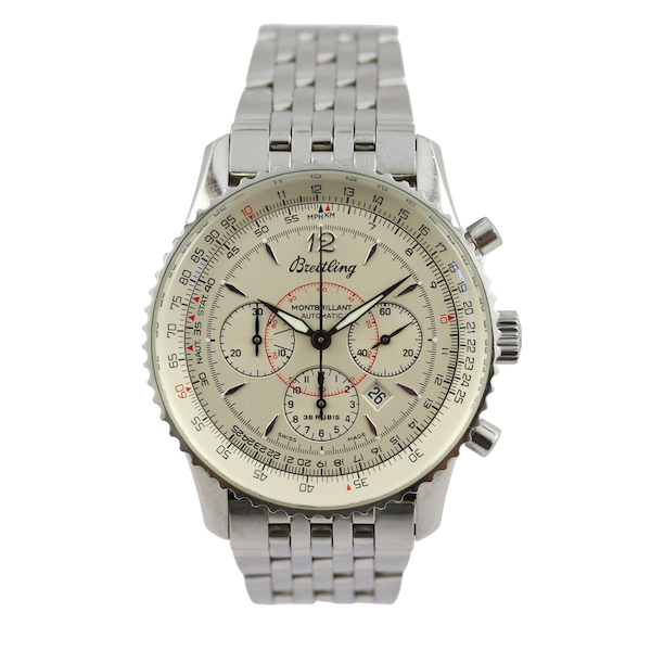 Breitling Navitimer Montbrilliant ref A41330, Steel, Chronograph, 38mm, Papers - image 1