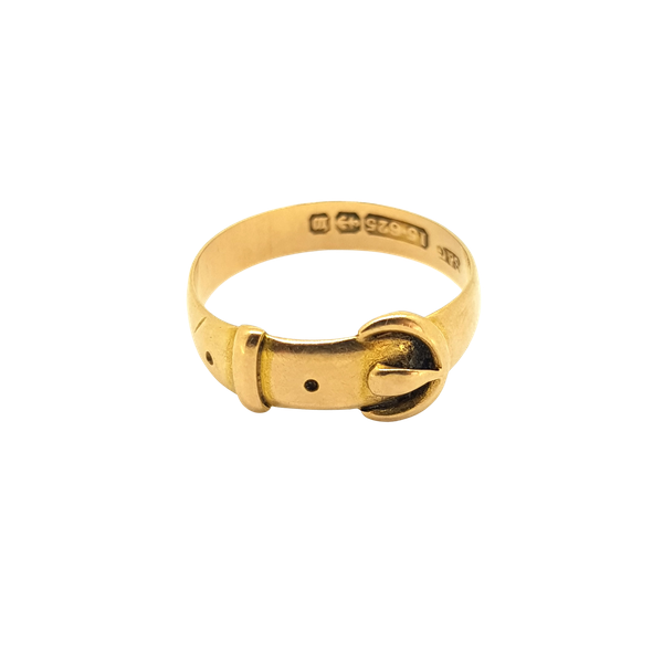 Late 19th Century Gold Buckle ring, 15 carat - image 1