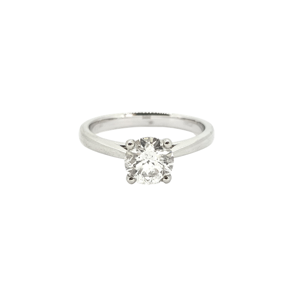 Diamond Solitaire ring, 1ct, F colour, IGI Certificate - image 1