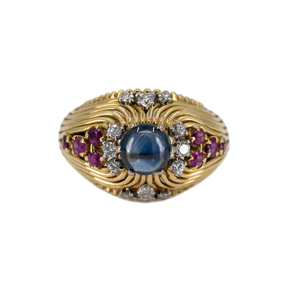 A Post War Sapphire Cocktail Ring Offered By The Gilded Lily - image 1