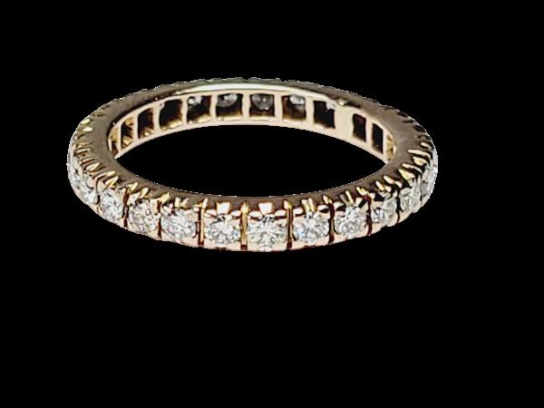 Full hoop diamond ring sku 4917  DBGEMS - image 1