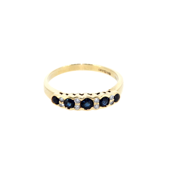 Sapphire And Diamond Half Eternity Ring. S. Greenstein - image 1
