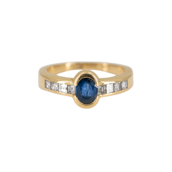 A Sapphire and Diamond Ring by Chaumet, Paris, Offered By The Gilded Lily - image 1